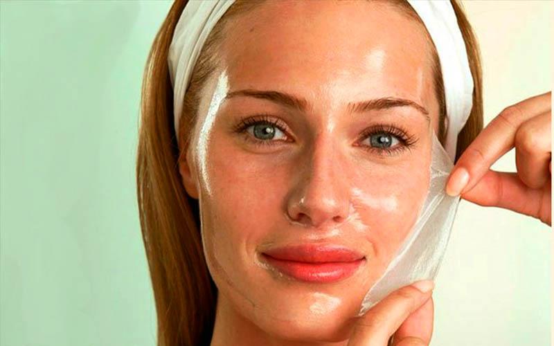Желатиновая маска пленка для лица