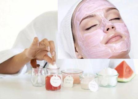 Арбузная маска для лица