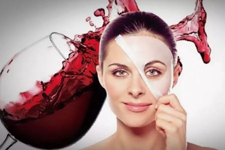 маска с вином