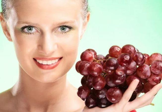 виноградная маска для лица