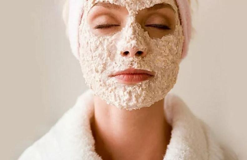 маска для лица с овсяными хлопьями