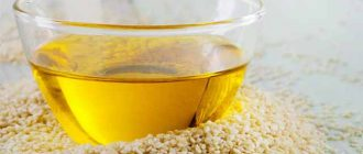 Кунжутное масло от морщин